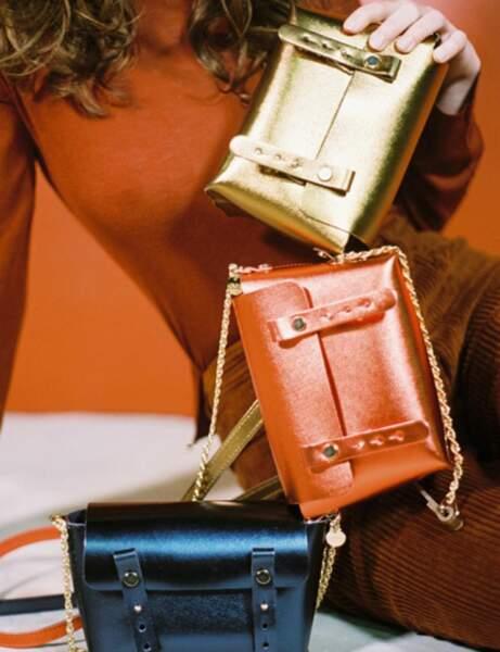 Tendance orange : la mini sac disco