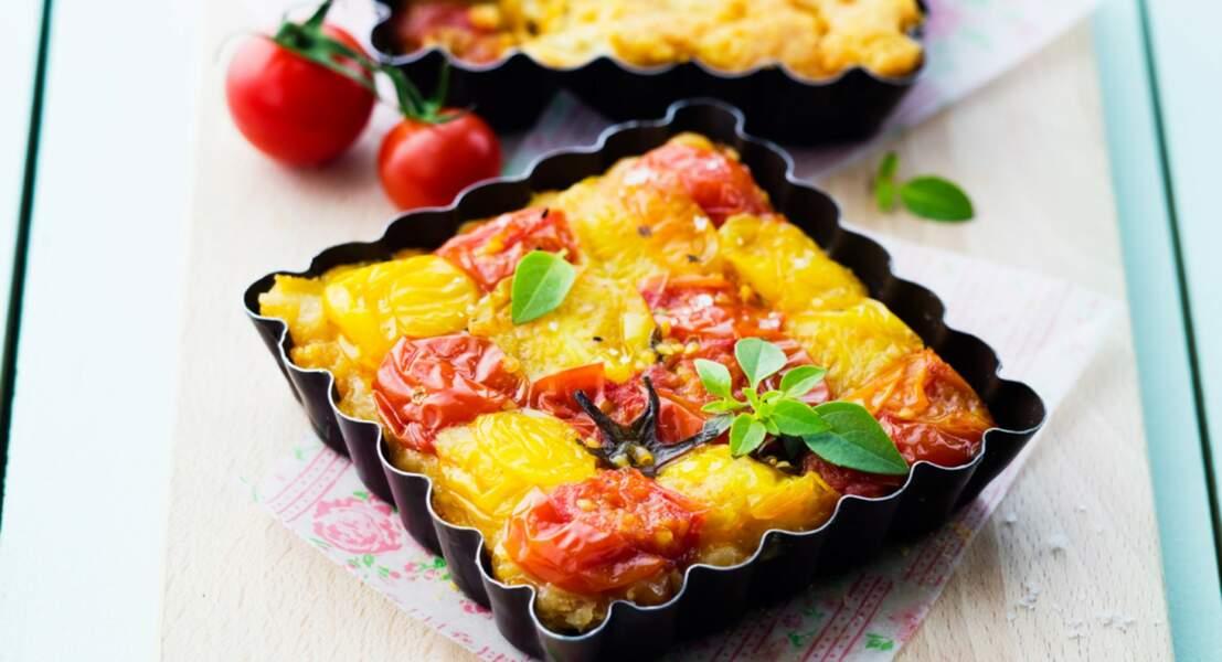 Tarte tatin de tomates et parmesan