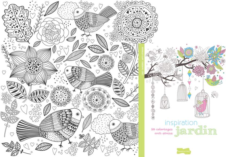 "Coloriage ""Inspiration Jardins"""