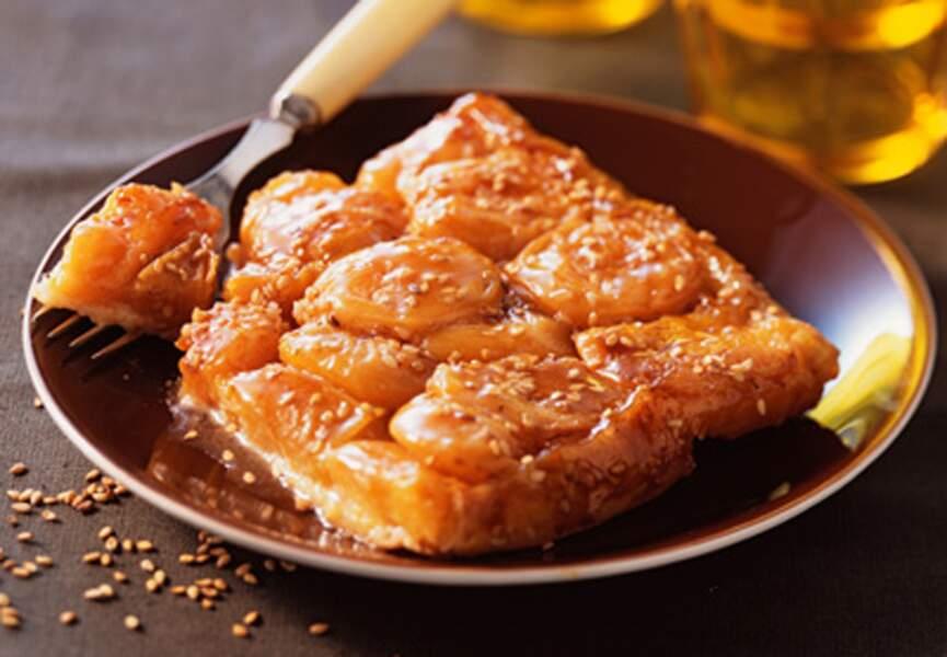 Tatin d'abricots au sésame