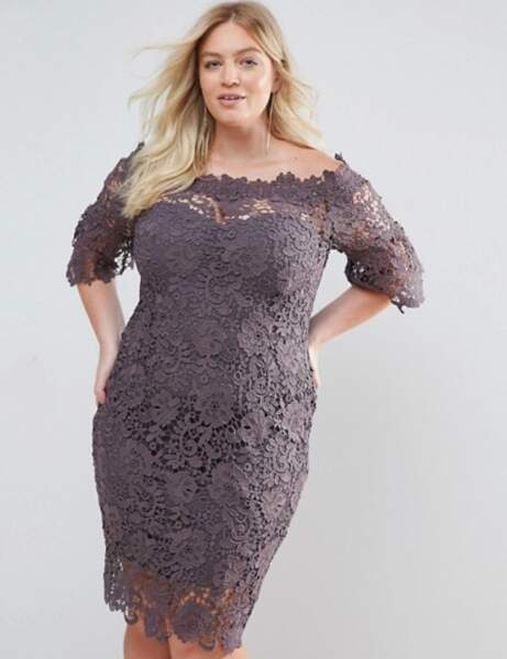 Top marque robe de soirée violet taille 42 041116421 8