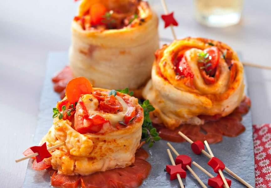 Pizza-rolls au jambon