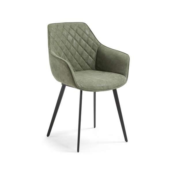 Chaise en cuir synthétique