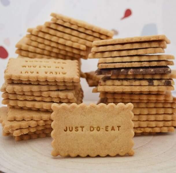 Un paquet de biscuits personnalisés