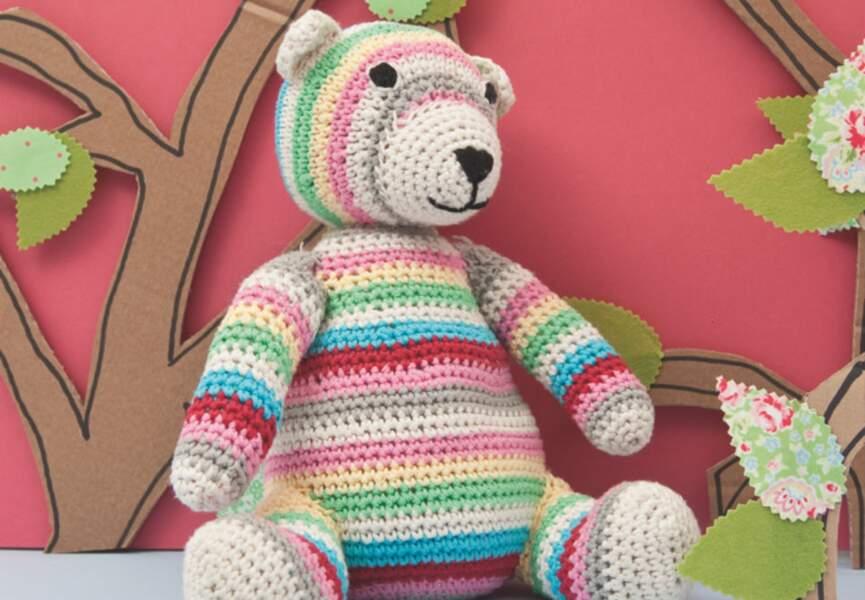 Un petit ours à tricoter