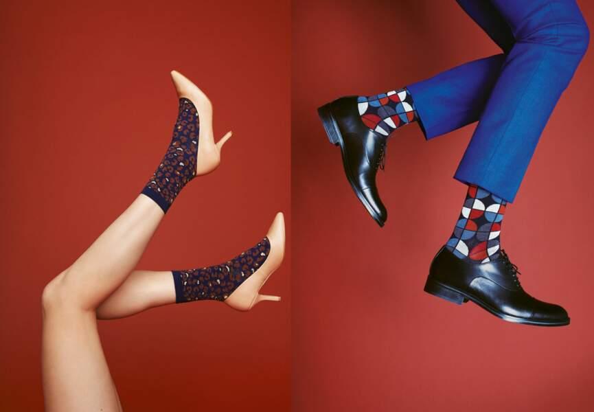 Les chaussettes fun d'Achile