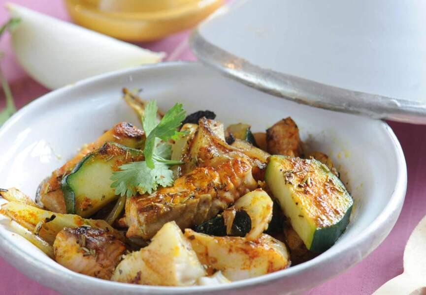 Tagine de poisson au curry