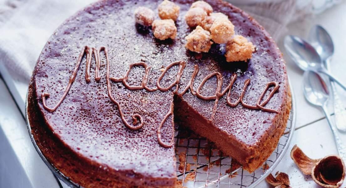 Gâteau magique au Nutella®, noisettes caramélisées