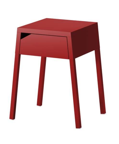 chevet rouge IKEA