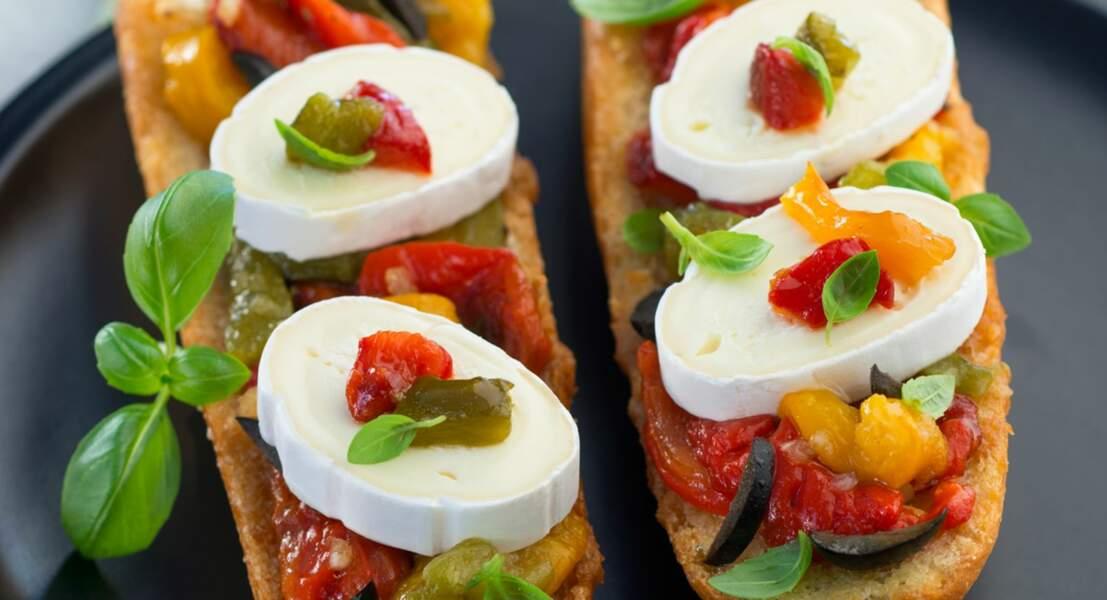 Baguette aux trois poivrons et fromage En cas de Caprice