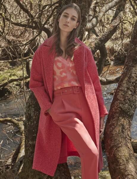 Manteau tendance: rose