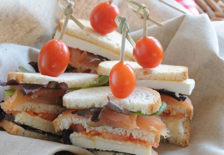 Club sandwich saumon-chèvre