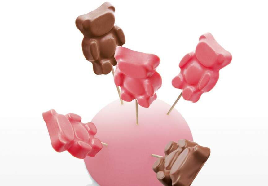 Bisounours fraise et chocolat lacté par Christophe Michalak