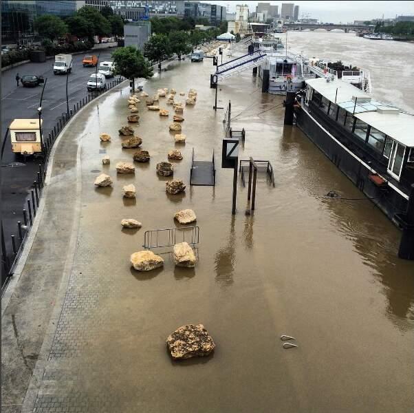 Jeudi midi, le fleuve atteignait près de 5 mètres de hauteur... En 1910, il avait dépassé les 8,60 mètres !