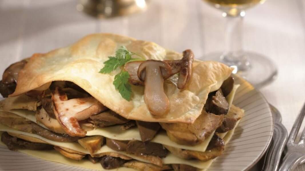 Lasagnes de foie gras aux cèpes