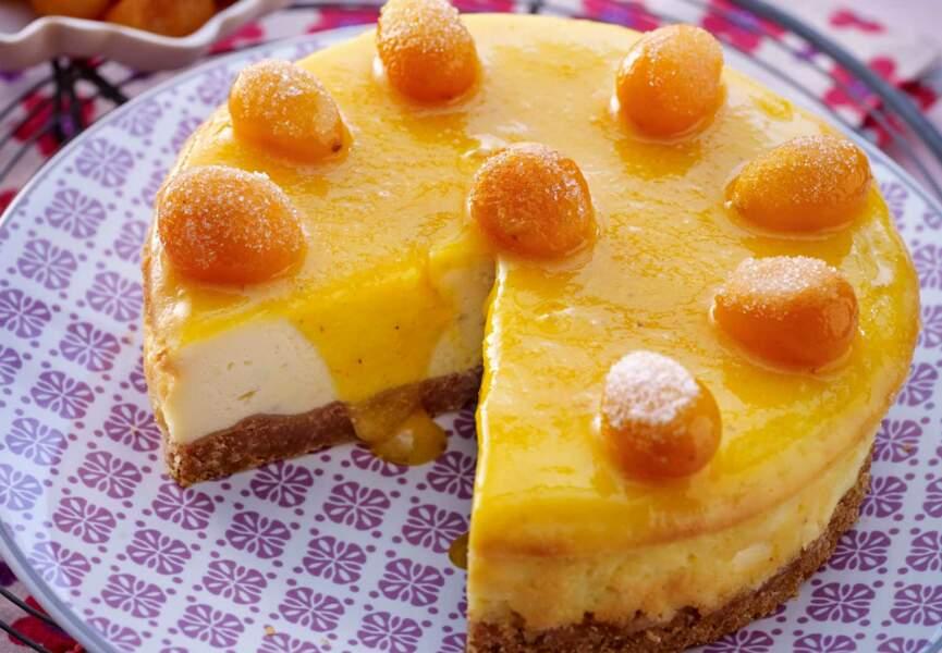 Cheesecake au naturel coulis de kumquats à peine confits