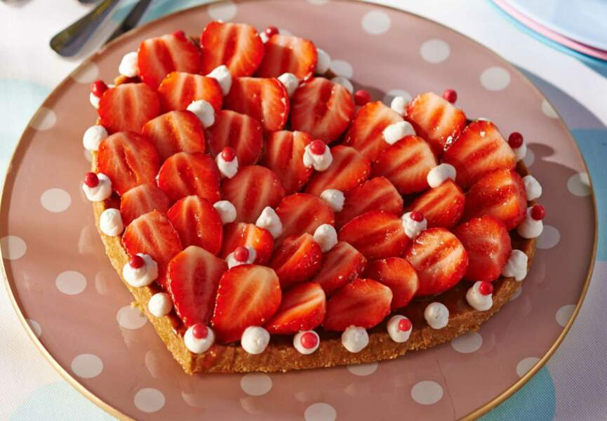 Tarte aux fraises sans cuisson