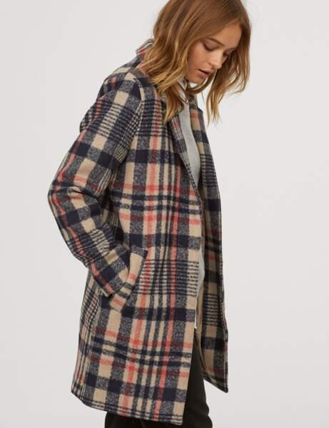Manteau tendance: carreaux