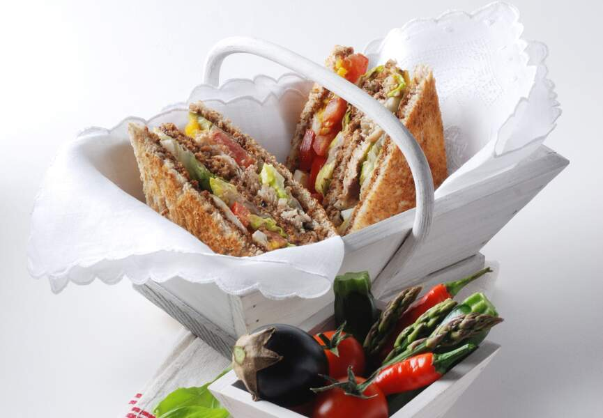 Club sandwich aux sardines