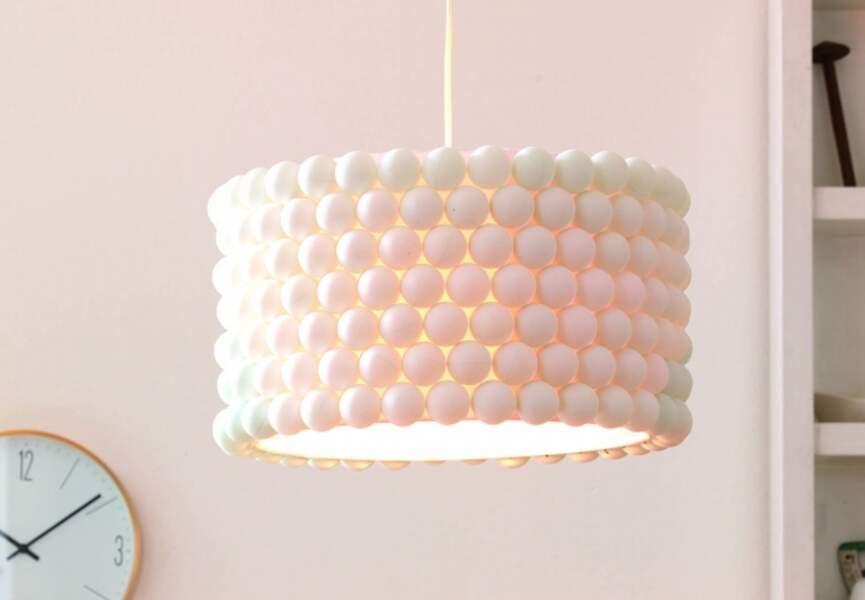 La lampe balles de ping-pong
