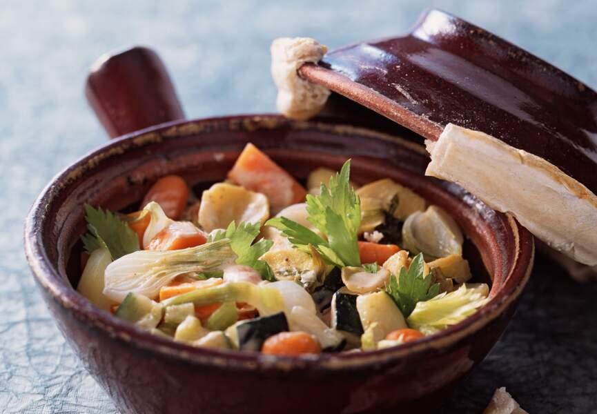 Cocotte de légumes au gingembre