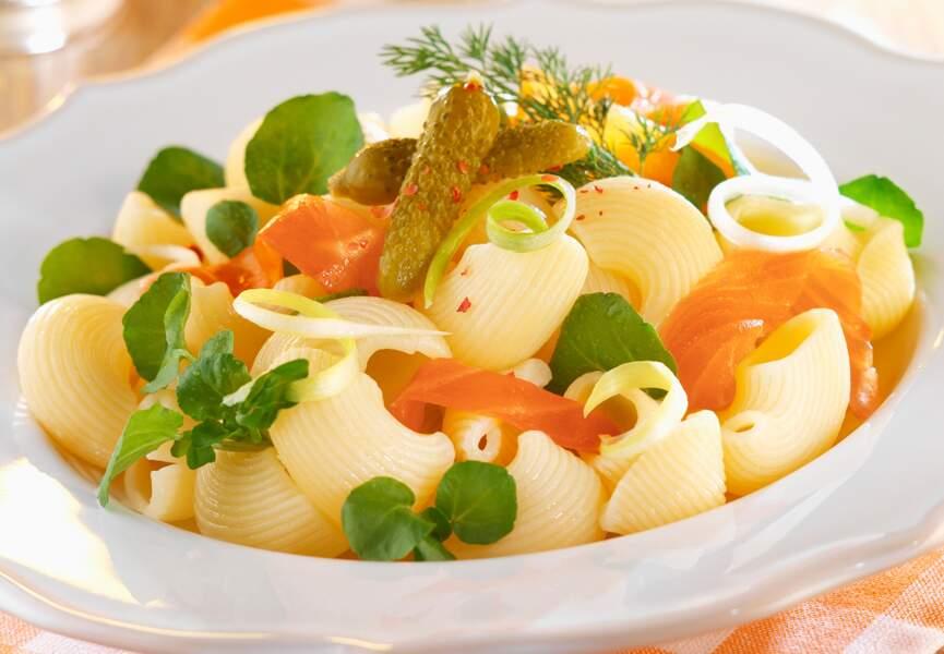 Salade de pâtes au saumon fumé