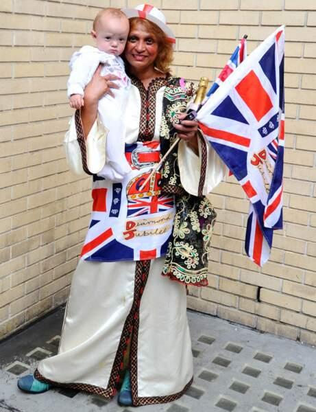 Une fan et son bébé (presque) royal