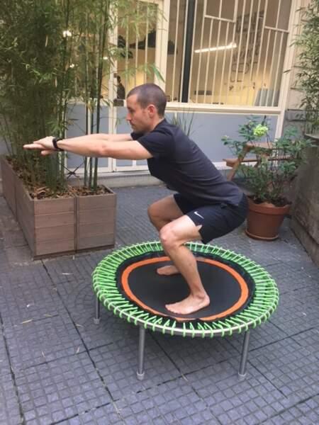 Mini-trampoline bellicon : posture n°5