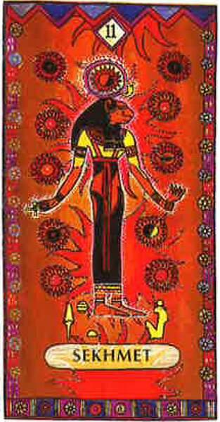 Lame 11 du tarot égyptien : Sekhmet