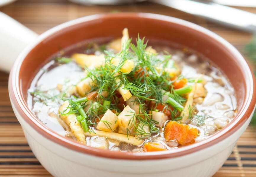 Bolée de réglisse aux légumes d'hiver