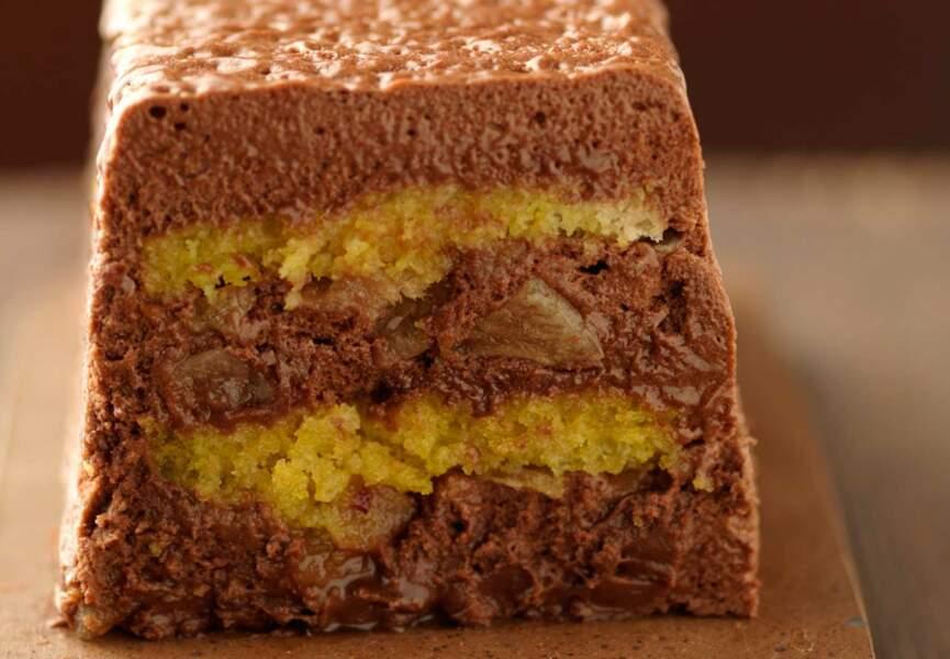 Terrine de mousse au chocolat et gingembre