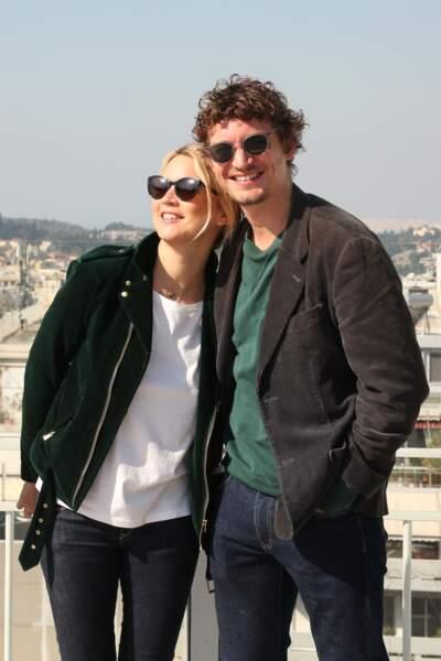 Virginie Efira et Niels Schneider au festival du film français à Athènes, le 10 avril 2019