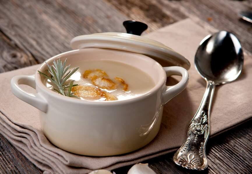 Soupe aux topinambours et Saint-Jacques