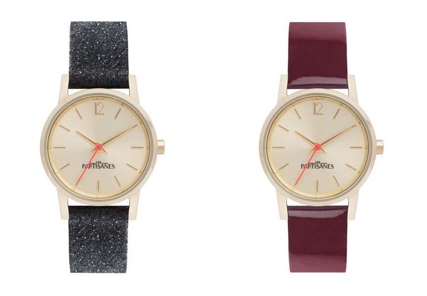 Les montres à bracelets interchangeables des Partisanes