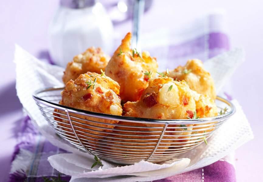 Beignets de jambon et d'amandes