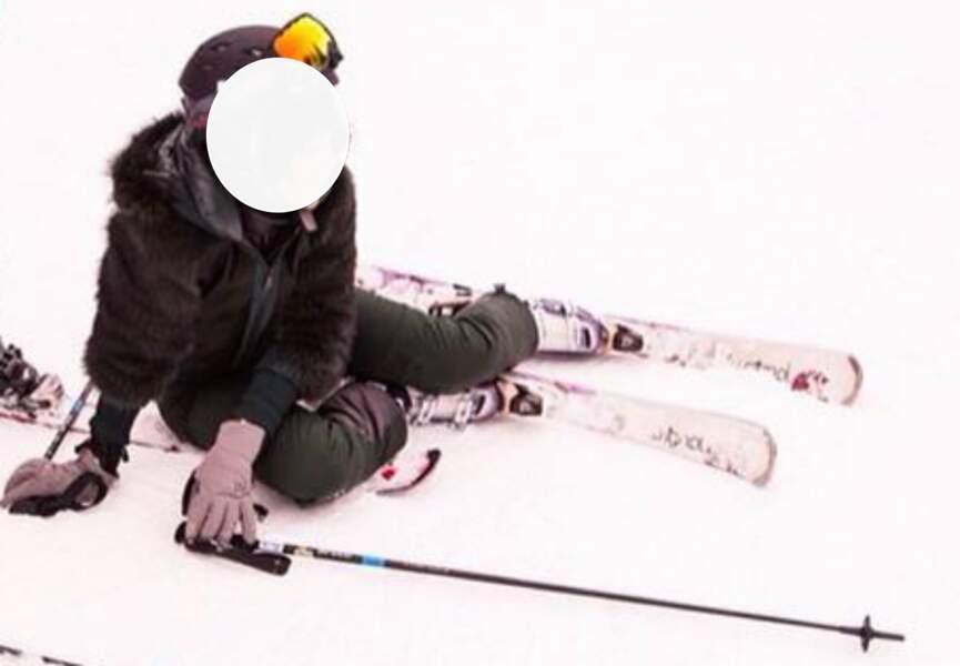 Une chute en ski ou une pose lascive ?