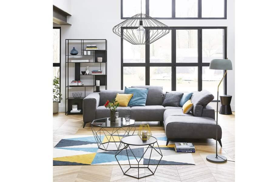 Canapé d'angle 5 places