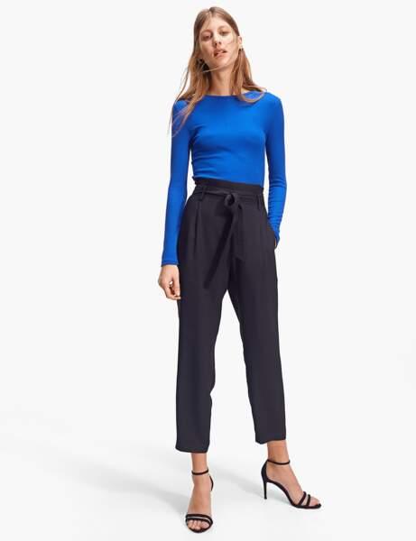 Pantalon tendance : pantalon paperbag