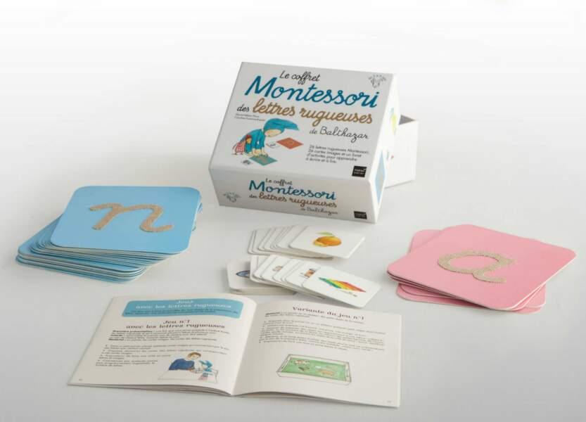 Montessori : le coffret des lettres rugueuses de Balthazar - Hatier