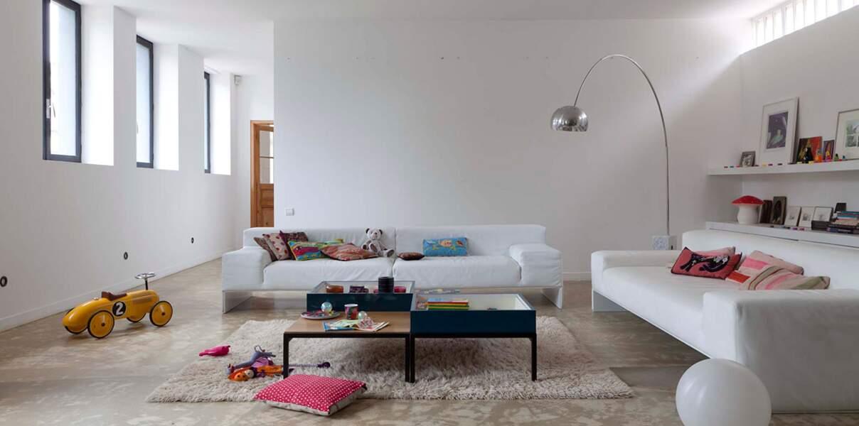 Salon blanc apaisant