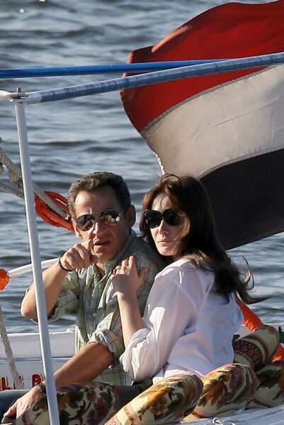 Carla Bruni et Nicolas Sarkozy...