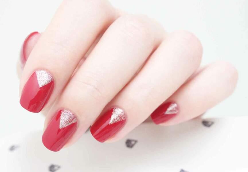 Nail art, le triangle raffiné