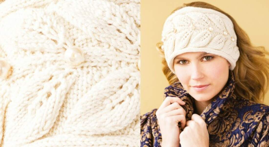 Mode d'emploi pour réaliser un bandeau en tricot