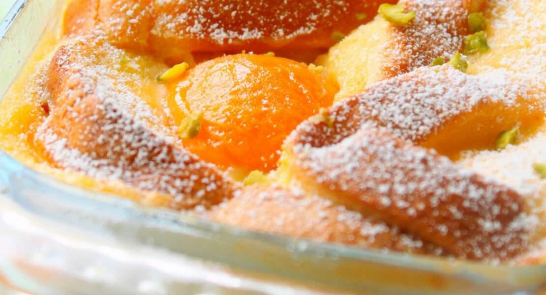 Brioche perdue aux abricots