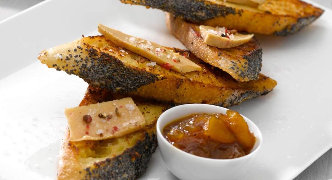 Pain perdu au foie gras