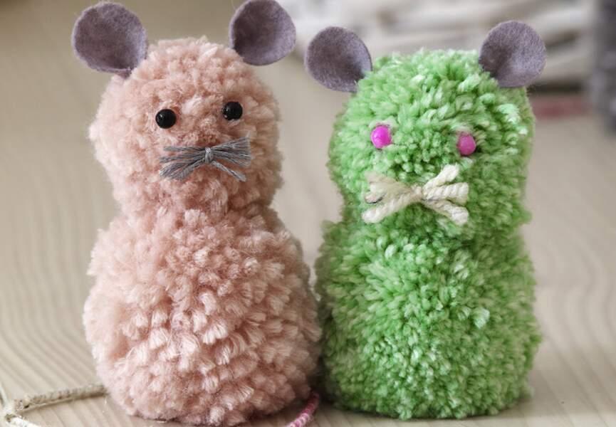 Des souris pompons