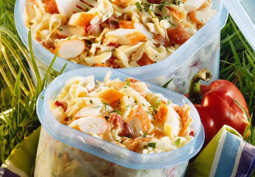 Salade de pâtes au surimi