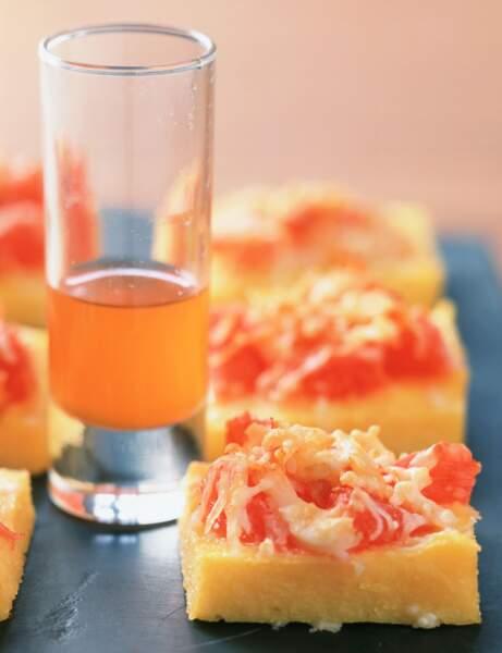 Mini-gratins de pamplemousse au crabe