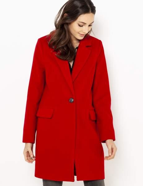 Manteau tendance: rouge