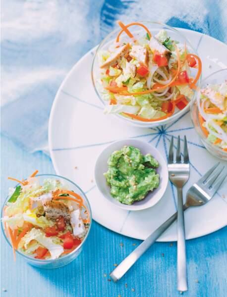 Salade asiatique et au wasabi